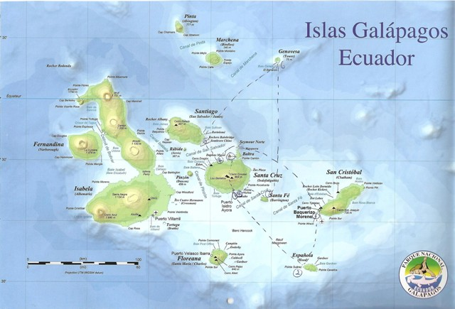Route Map Galapagos