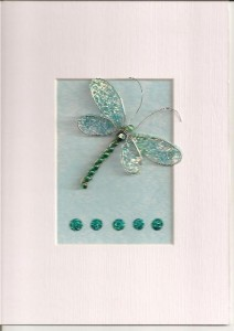 Beaded Dragonfly & Butterfly Cards