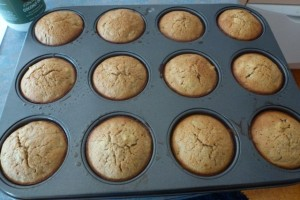 Feijoa and Ginger Muffins