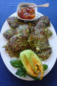 Zucchini, Feta and Herb Fritters
