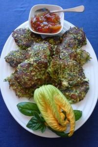 Zucchini, Feta and Herb Fritters