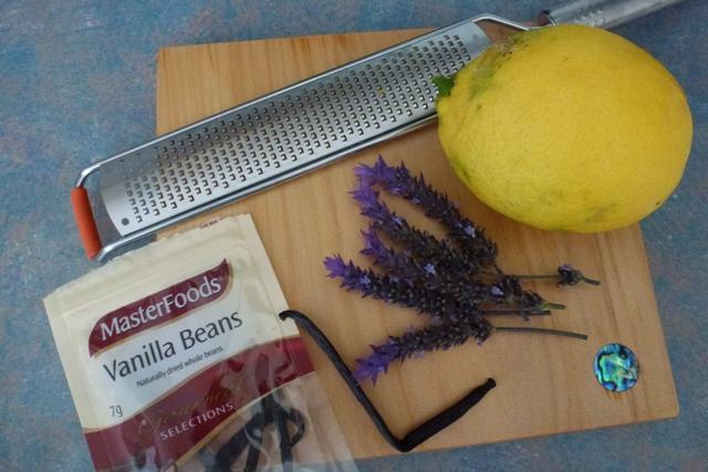 Lavender Syrup recipe ingredients