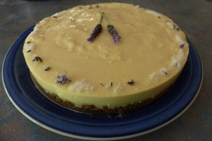 Lemon & Lavender Cheesecake