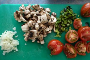 Vegetables for stuffed marrow recipe