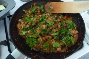 Saute other veges in a pan