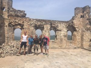 With Jonas, Peter, Denise and Daniel on unrestored watch tower