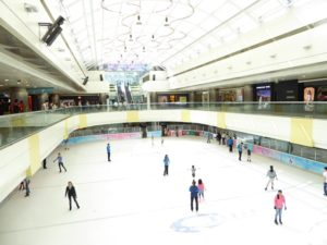 Ice-skating rink in China World Mall