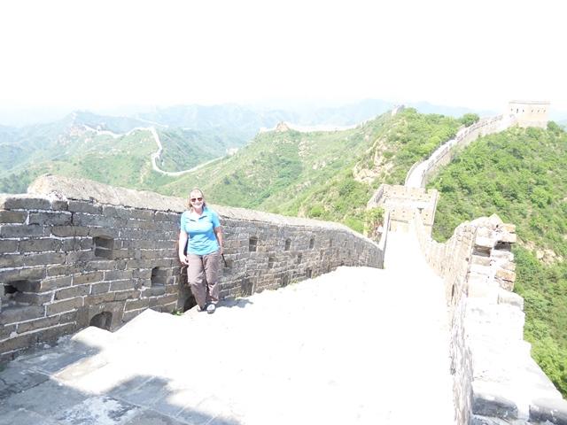 Great Wall snaking around the ridges
