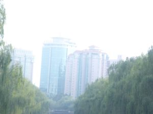Views of Beijing from the bus