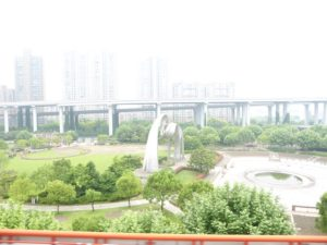 Nanpu Park and elevated road
