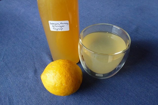 Lemon, Honey & Ginger Syrup