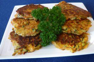 Kumara Zucchini Pancakes