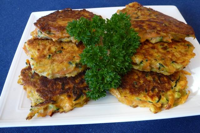 kumara & zucchini pancakes