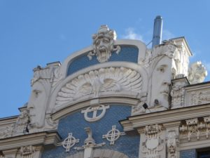 Art Nouveau buildings, Albert iela, Riga