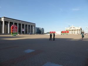 October Square, Palace of the Republic and Trade Unions Palace, Minsk