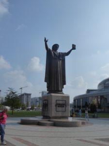 Statue outside Minsk National Library