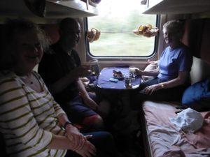 Breakfast on the train