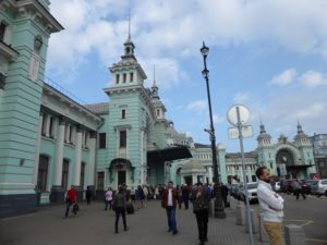 The Moscow railway station we arrived at