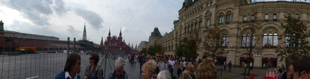 Red Square towards State History Museum and GUM Department Store