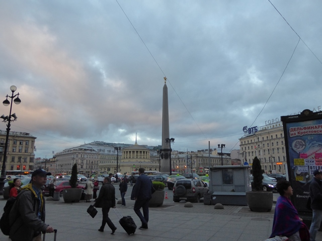 Leningrad Hero City Obelisk in Vosstaniya Square
