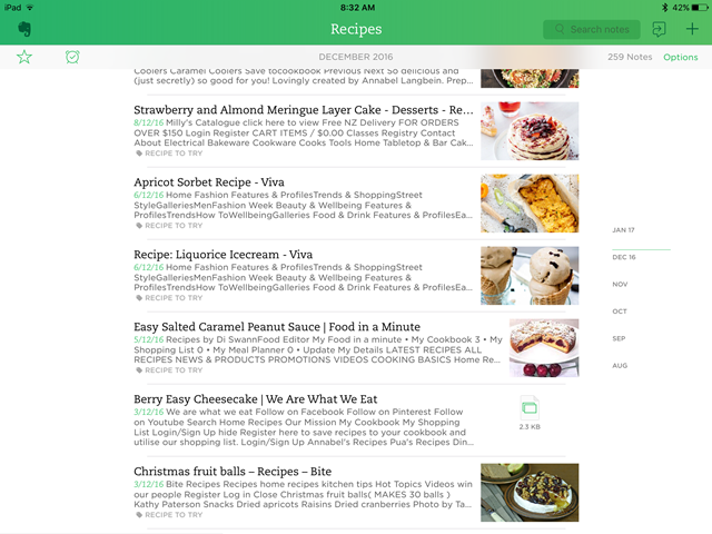 Evernote: best app for managing recipes