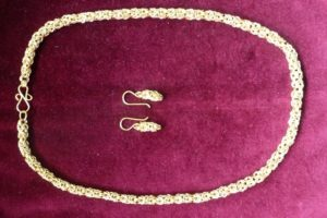 Byzantine necklace and earrings