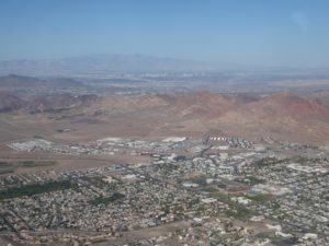 Boulder City & Las Vegas behind