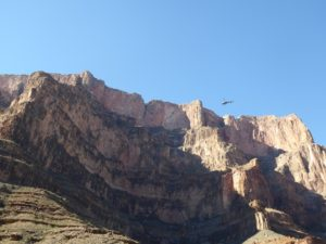 Flying out of the Grand Canyon