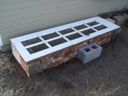 Cold frame made using old window
