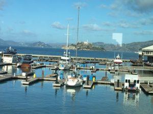 Marina, sea lions and Alcatraz