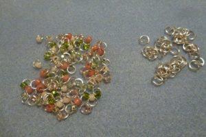 Seed beads on jumprings