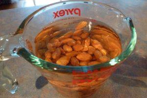 Soak almonds overnight then drain