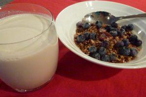 Serve almond milk with your favorite muesli