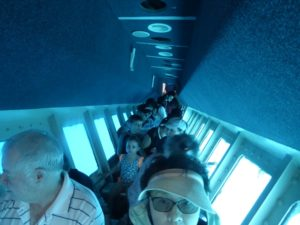 Inside the semi-submersible