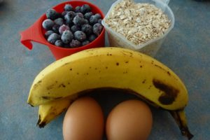 Blueberry Banana Oat Muffin ingredients