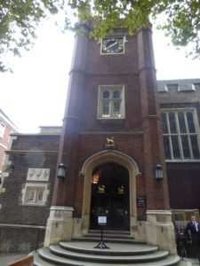 Middle Temple Hall (note Knight's Templar images)