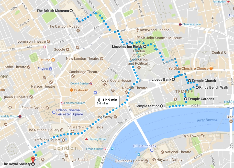 London Walking Tour Map