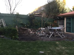 And the retaining wall