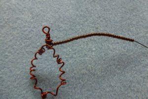 Create a loop using random coiled wire
