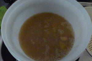 Pour into sterilized bucket