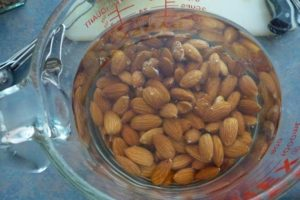 Soak almonds in water