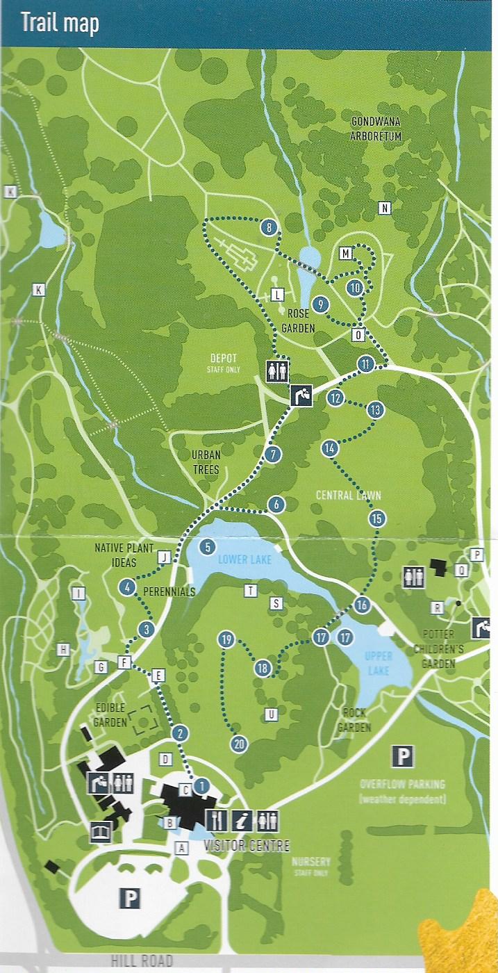 Sculpture trail map