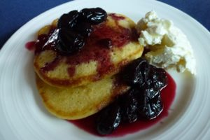 Serve Cherry Compote with Pancakes