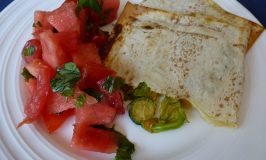 Quesadillas with Courgette Flowers