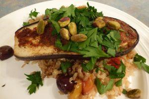 Harissa Roasted Eggplant