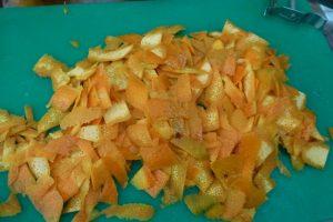 Chop zest into smaller pieces