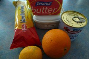 Orange slice ingredients
