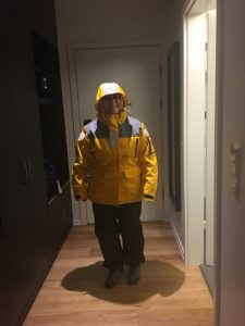 Trying out the yellow expedition parka