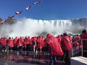 Up close to the Niagara Falls