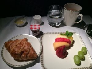 Croissant and fruit